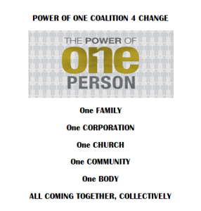 Power of One Coalition 4 Change @ Midfield Recreation Center
